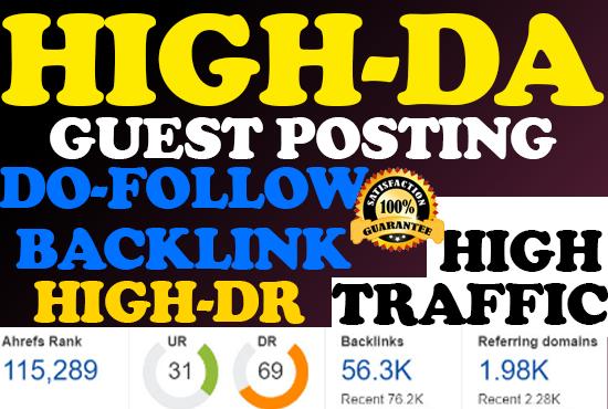 I will do guest posting,  guest post da 90 plus high da guest post