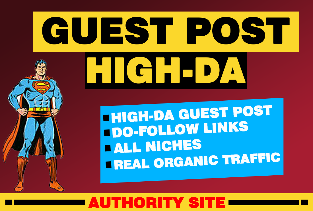 I will build do follow SEO backlinks and 600 words guest blog post