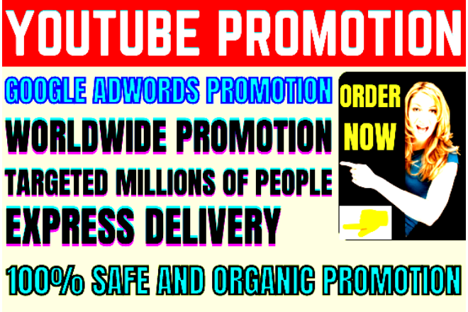 youtube promotion organically in 24 hrs