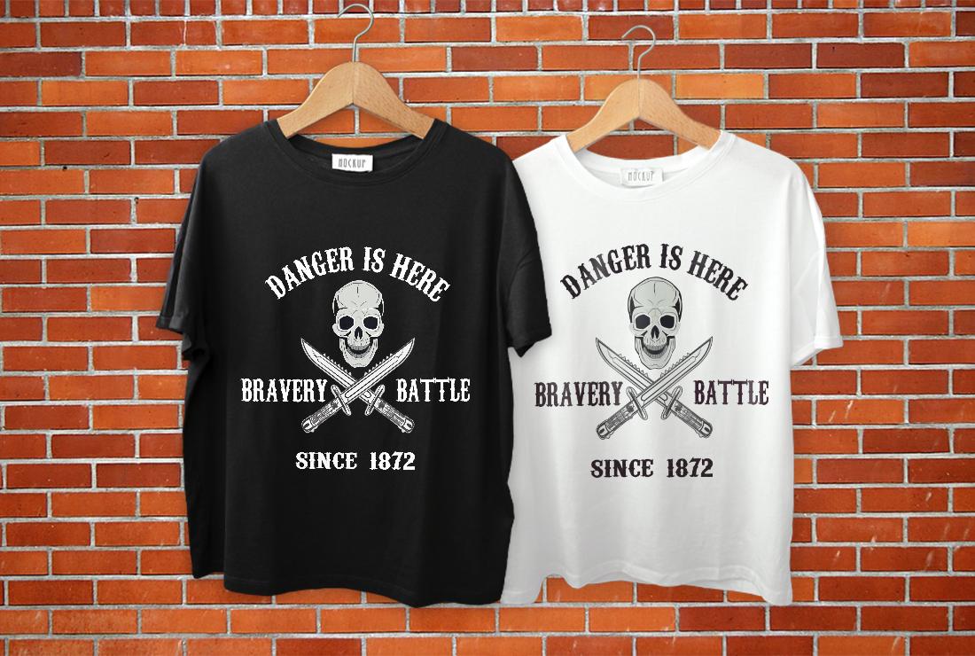 I will do unique graphic T-shirt design merchandise