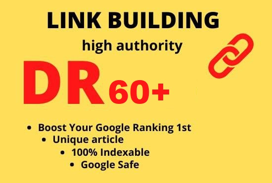 We Build 40 DR/DA 60+ HQ Permanant Homepage PBN Backlinks