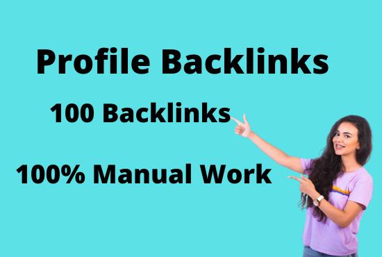 Create 70 High authority manual profile backlinks