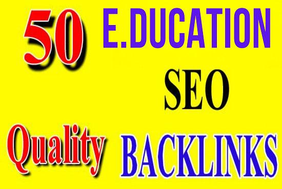 Create 50 high authority edu gov backlinks