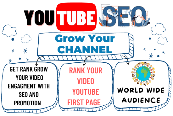 I will the Best YouTube SEO to Increase the Ranking of your Video on First page