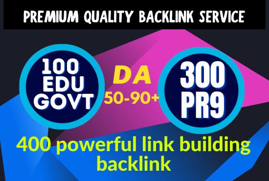 I will create 400 USA, Edu permanent link building Backlinks