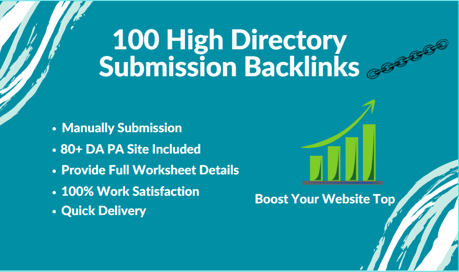 I will create 100 high-quality directory submission backlinks