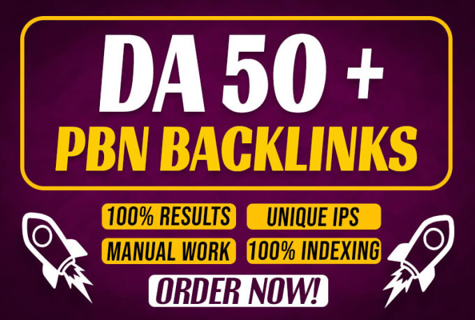 I will Create 20 permanent DA 50+plus do follow pbn backlinks