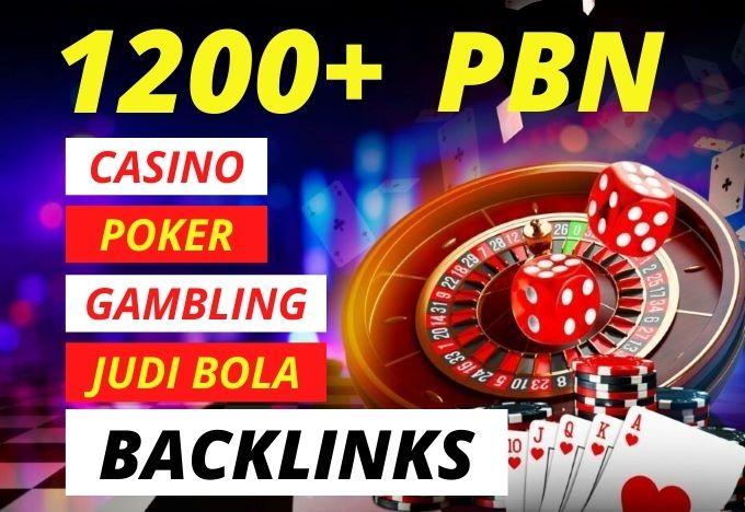 1200+ Casino,  Poker,  Gambling,  Judi Bola High Quality PBN Backlinks