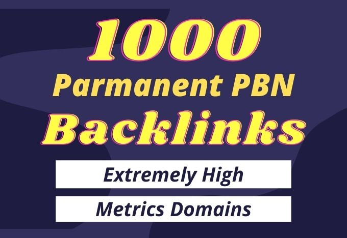 I will provide 1000 Parmanent PBN Backlinks from 50+ high da pa sites