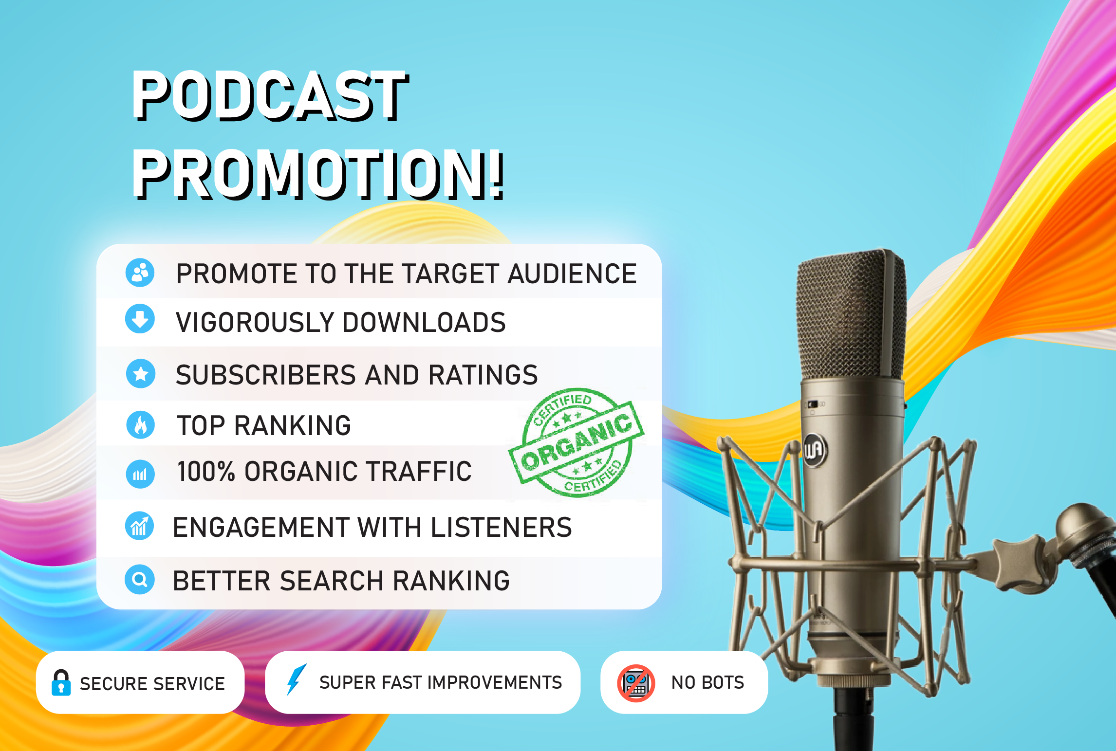 I will promote your podcast and boost your download