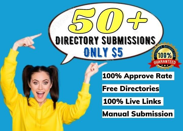 I will do 50+ directory submissions manually