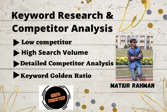 I will do powerful Keywords research and competitor analysis