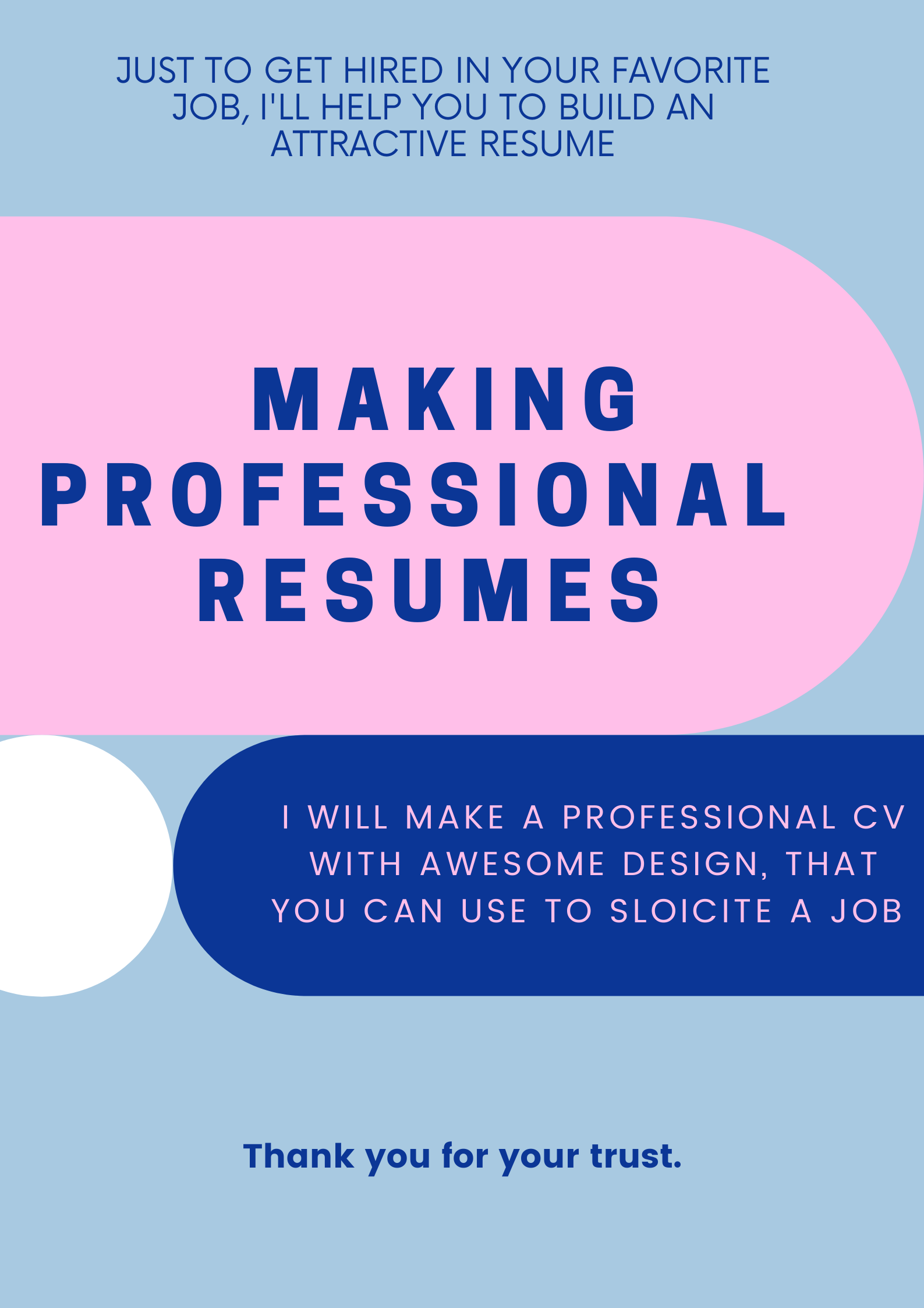 I will a professional and attractive CV