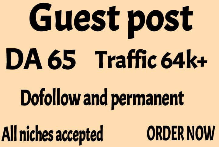 provide guest post on my high da 65 with dofollow backlink