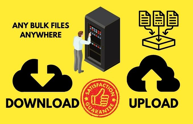 download and upload your files in bulk and anywhere