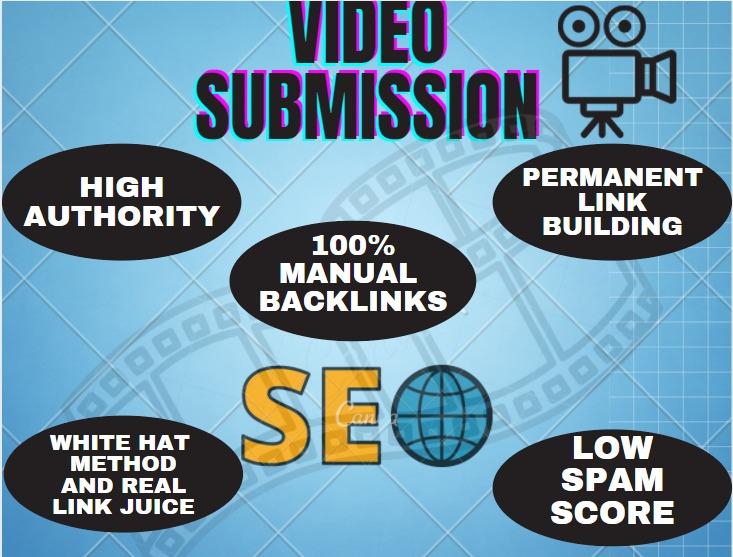 Live 50+ Video Submission backlinks high authority permanent do follow link building