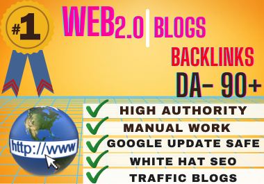 Get 25+ High Quality SEO Web 2.0 contextual Backlinks for boosting your website trafficking.