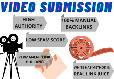 Live 85 Video Submission backlinks high authority permanent dofollow