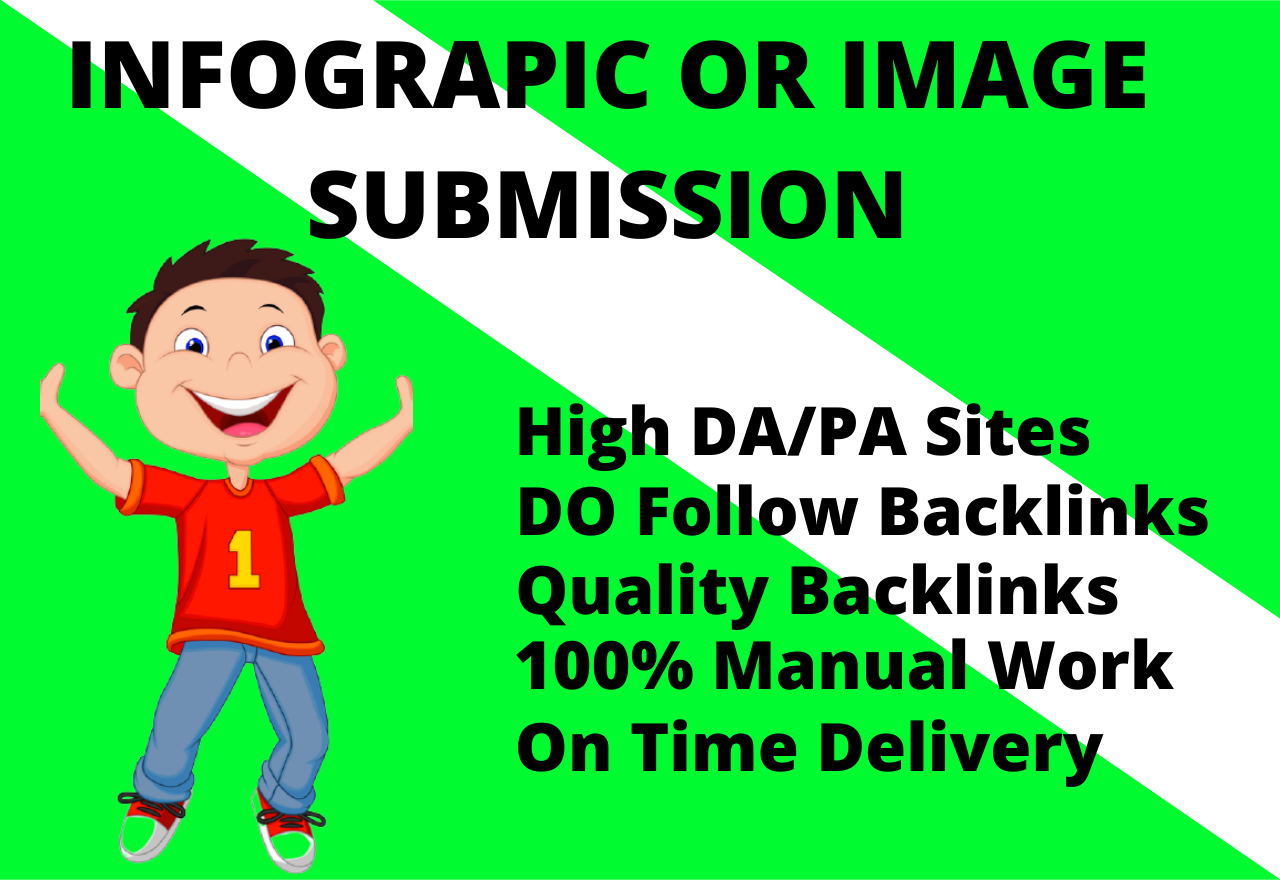 I will do 40 image or infographic submission to get dofollow backlinks