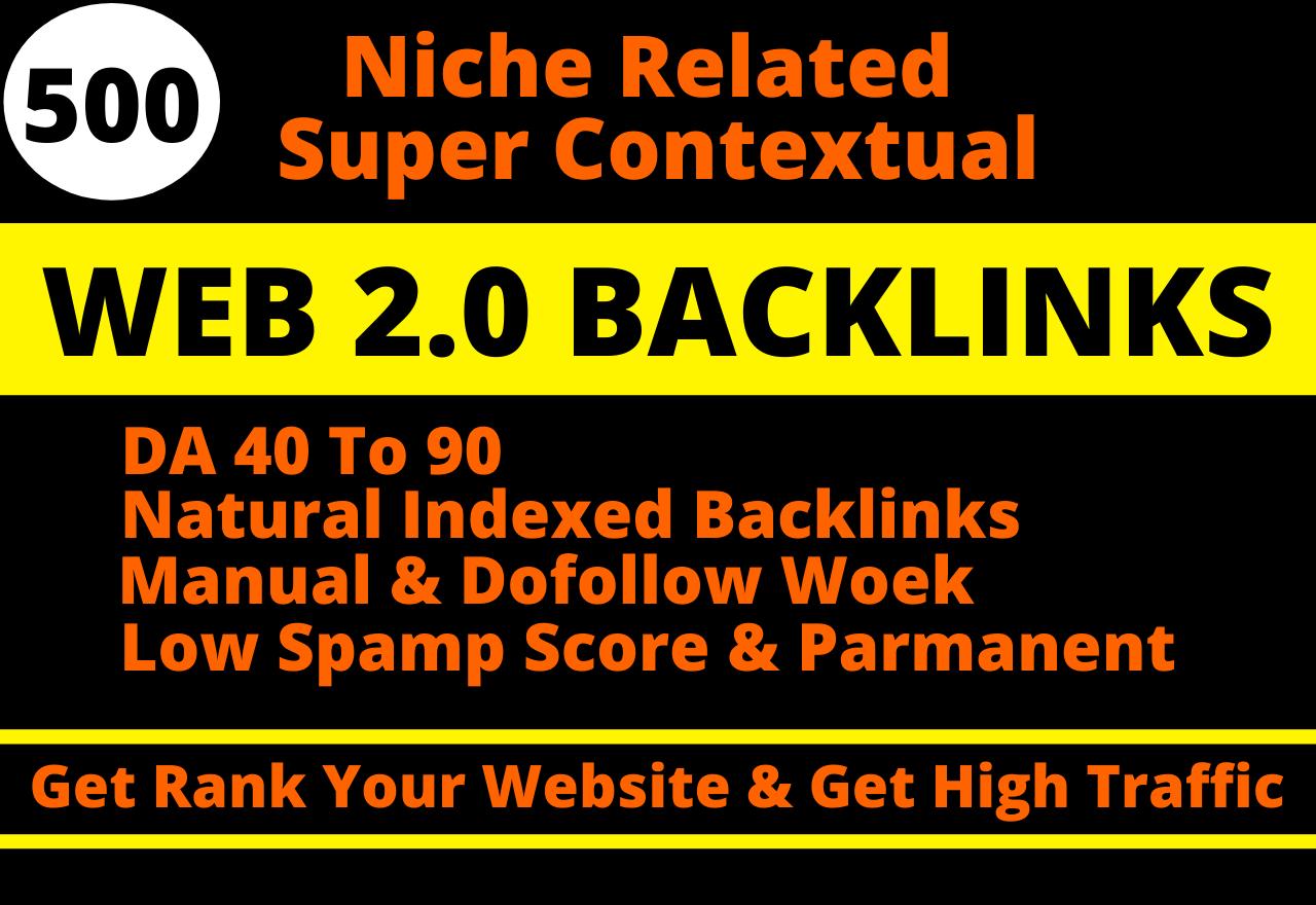 I will do 500 dofollow web 2.0 blog contextual SEO backlinks