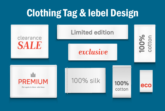 design hang tag clothing tag neck label product label