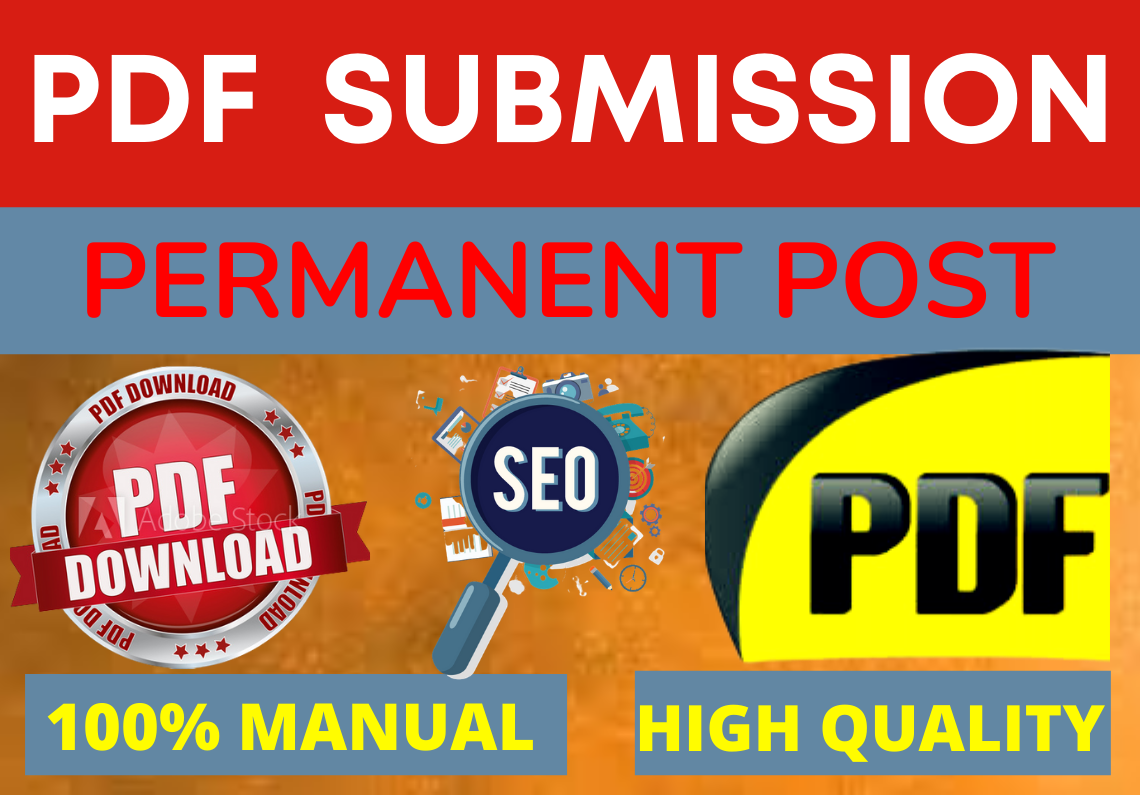 I will do 75 PDF submission on high authority dofollow sites to rank up website