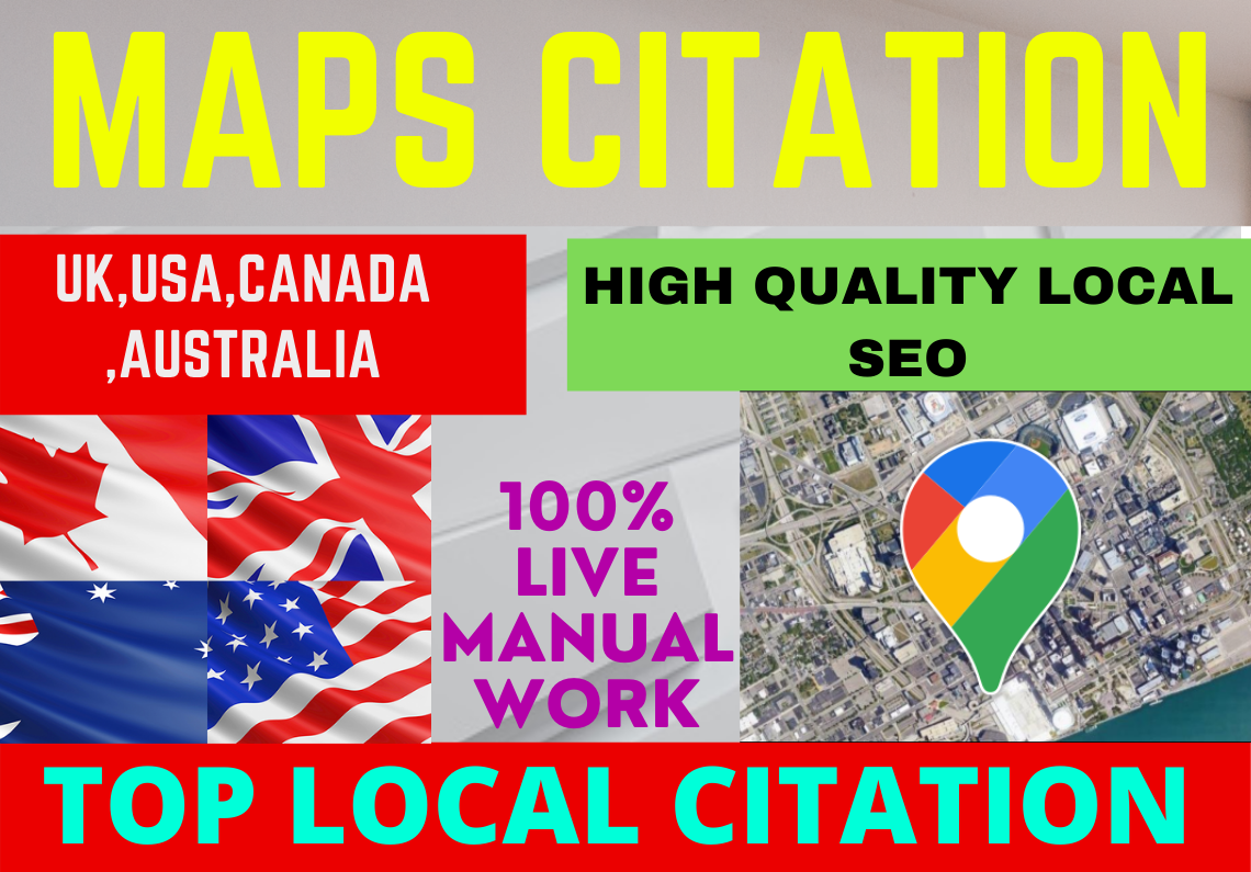 I will create live 1000 google map citations For Your Local Business