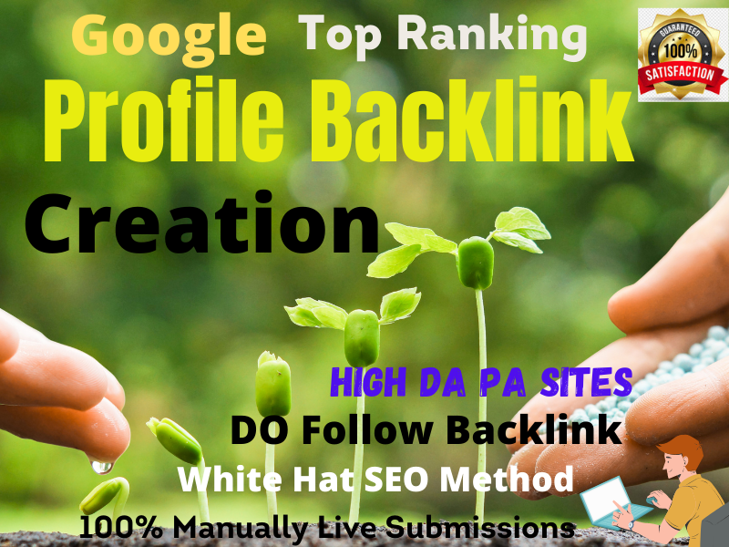 100 High Quality All Active Profile Creation Backlinks for your Website