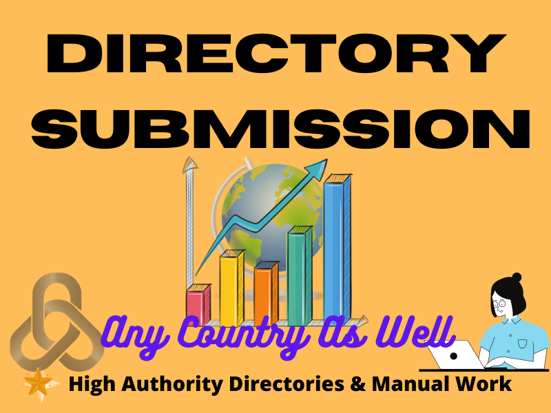 I will submit manually 50 Directory Submission powerful backlinks.