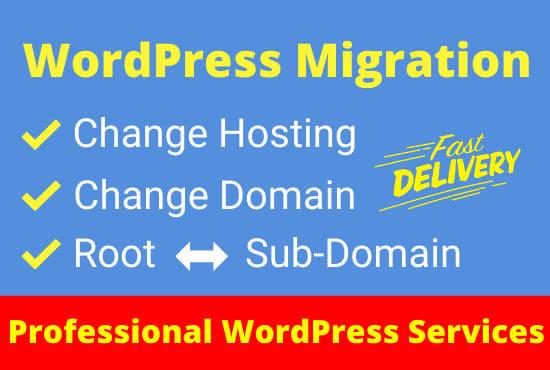 I will migrate your WordPress website