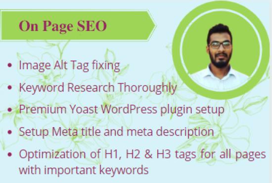I will do manual WordPress On Page SEO optimization with Yoast