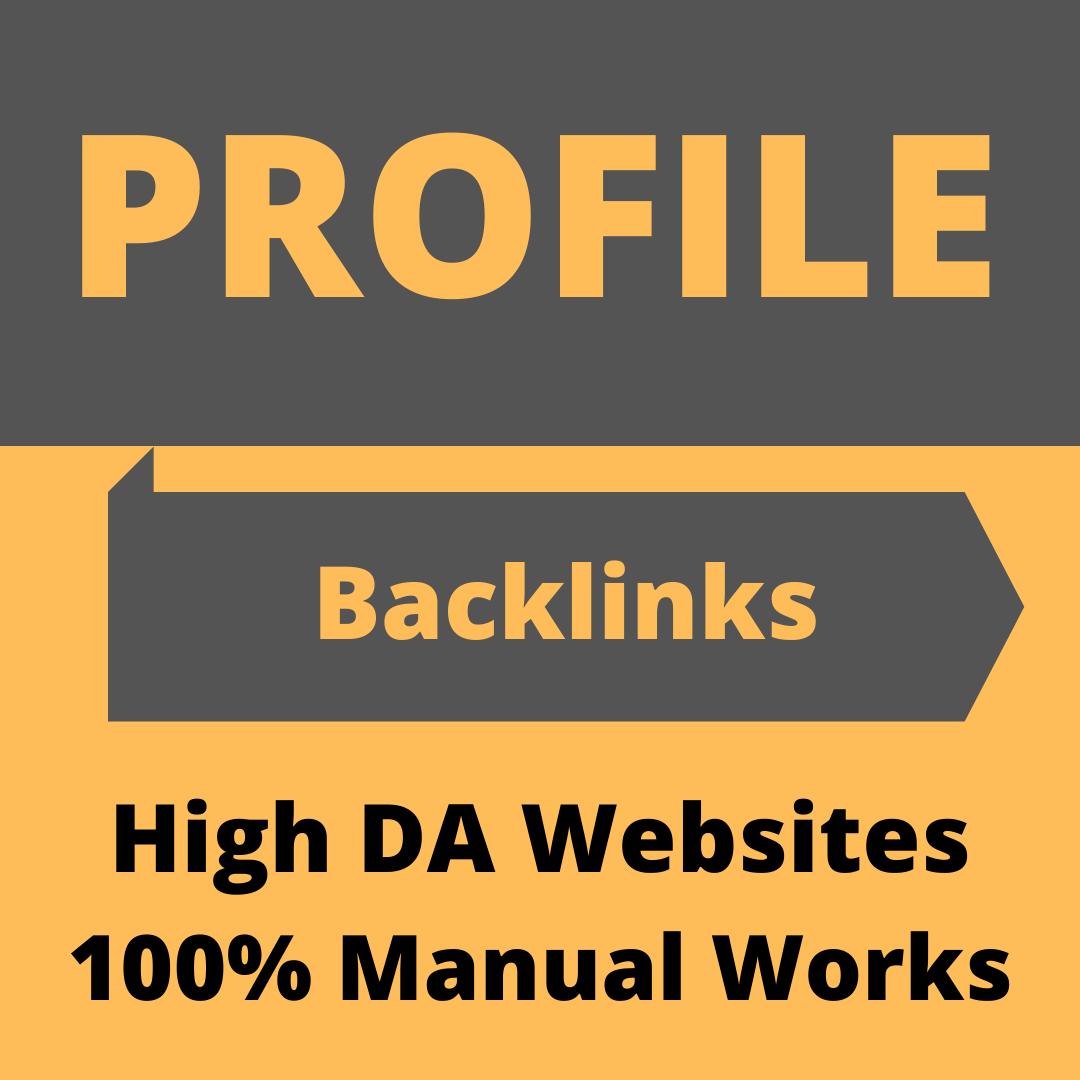Manually create 25 high authority high DA & PA Profile backlinks