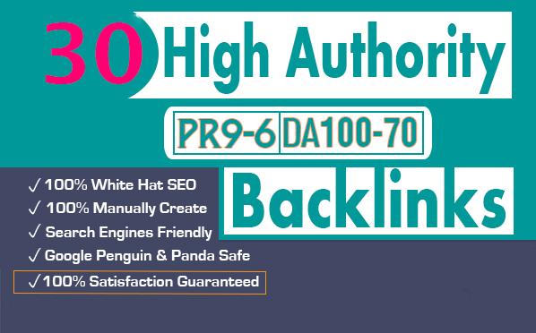 I will do 30 high PR top social bookmarking backlinks for your website.