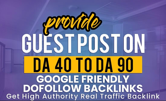 I will publish post on high DA,  DR and high Traffic website