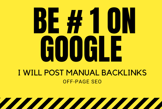 Rank your website with monthly off-page seo service,  high quality backlinks