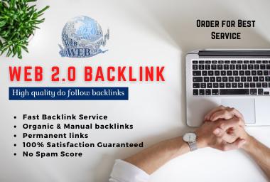 I will build web 2 0 high authority backlinks manually
