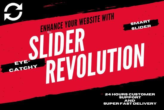 I will make your website attractive with slider revolution and smart slider