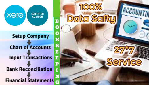 I will Do Bookkeeping In Xero ,Quickbook ,Wave, Odoo and Excel (UPTO 1200 Transaction)