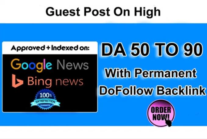 3 Guest Post On High Da News Blog With Dofollow Backlink