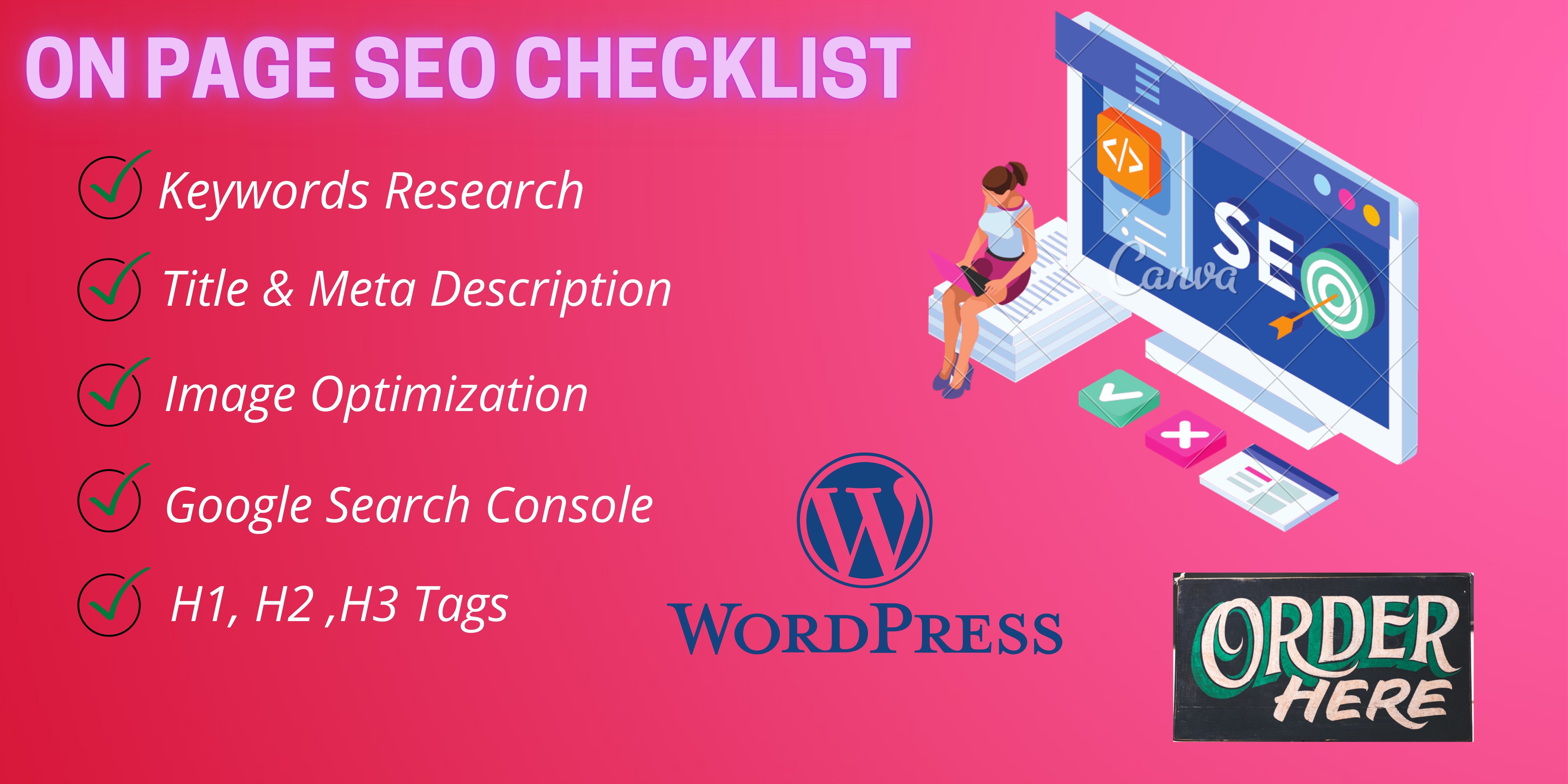 I will do deep on page SEO of your website to rank on google