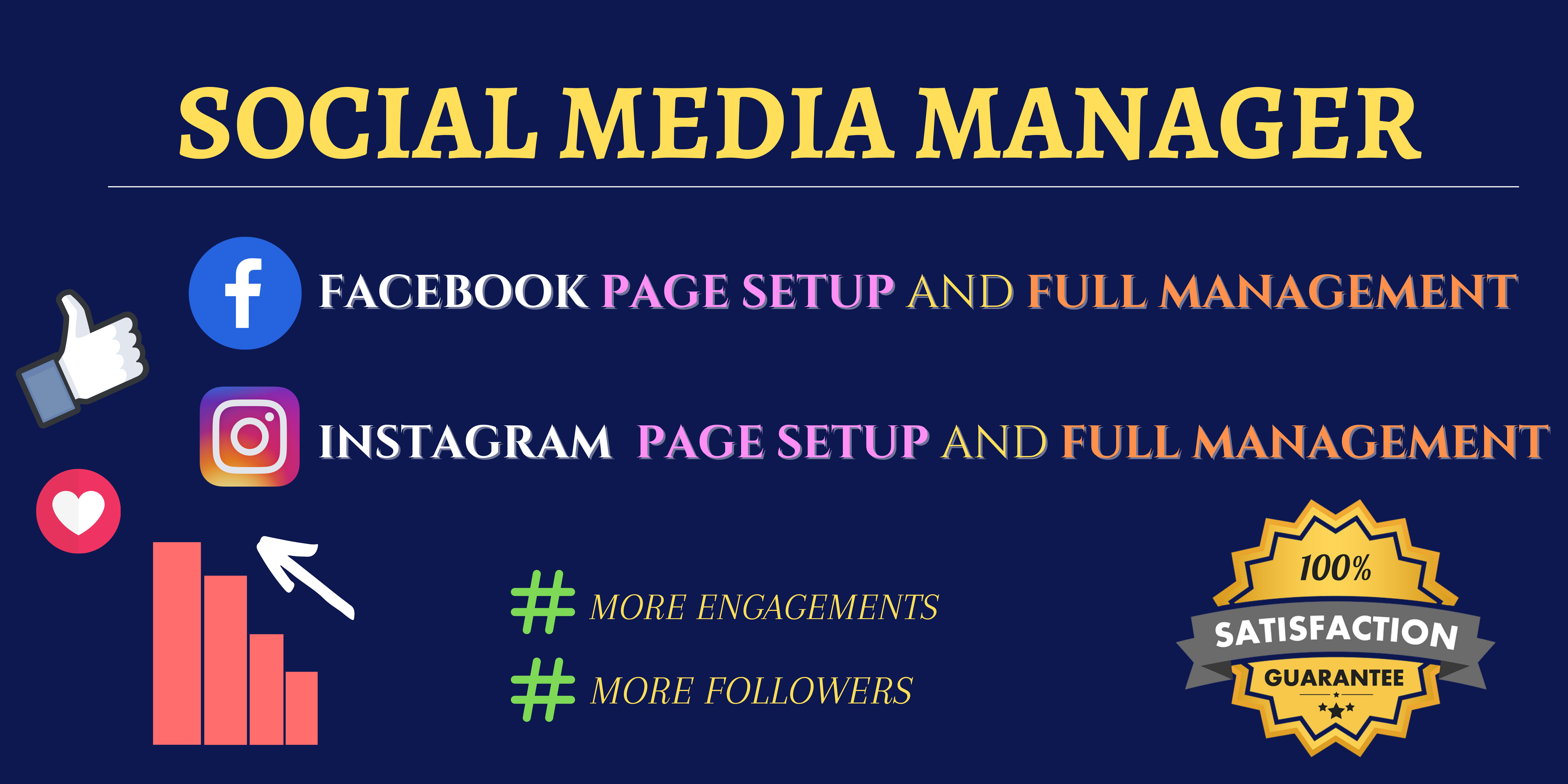 I will be your Social Media Account Manager and Virtual Assistant
