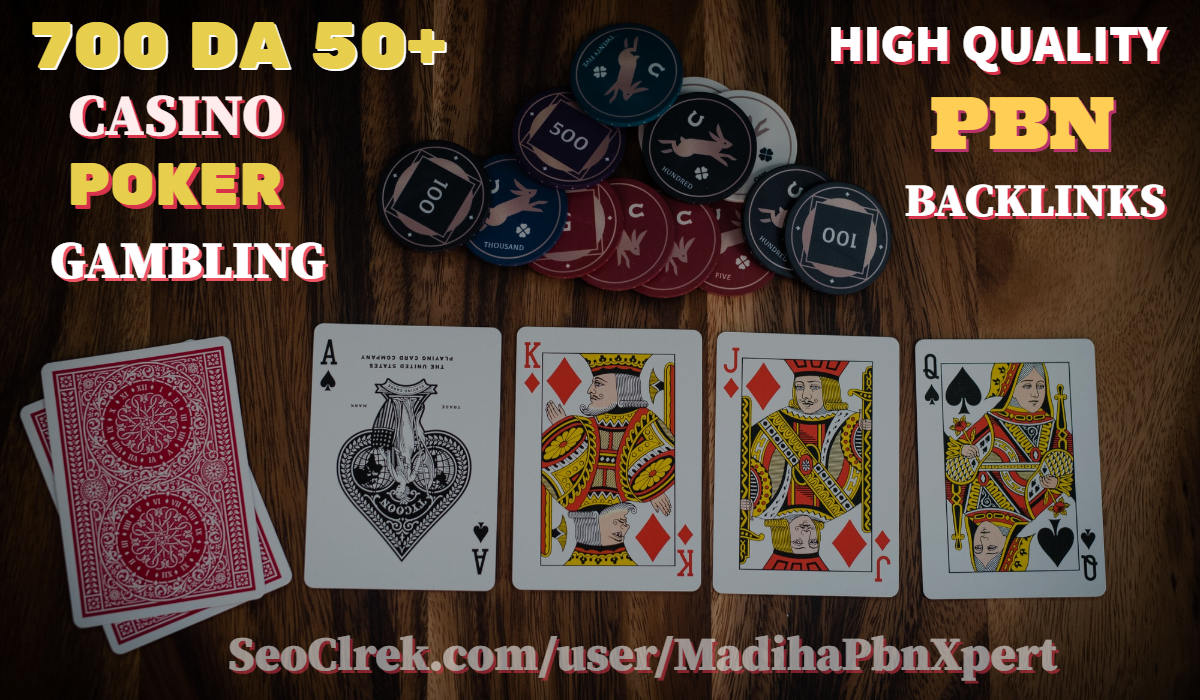 Drive 700 DA 50+ Casino Poker Gambling Related High Quality Pbn Backlinks For Your Website
