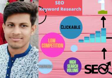 I will do best and excellent keyword research on SEO to rank your site first