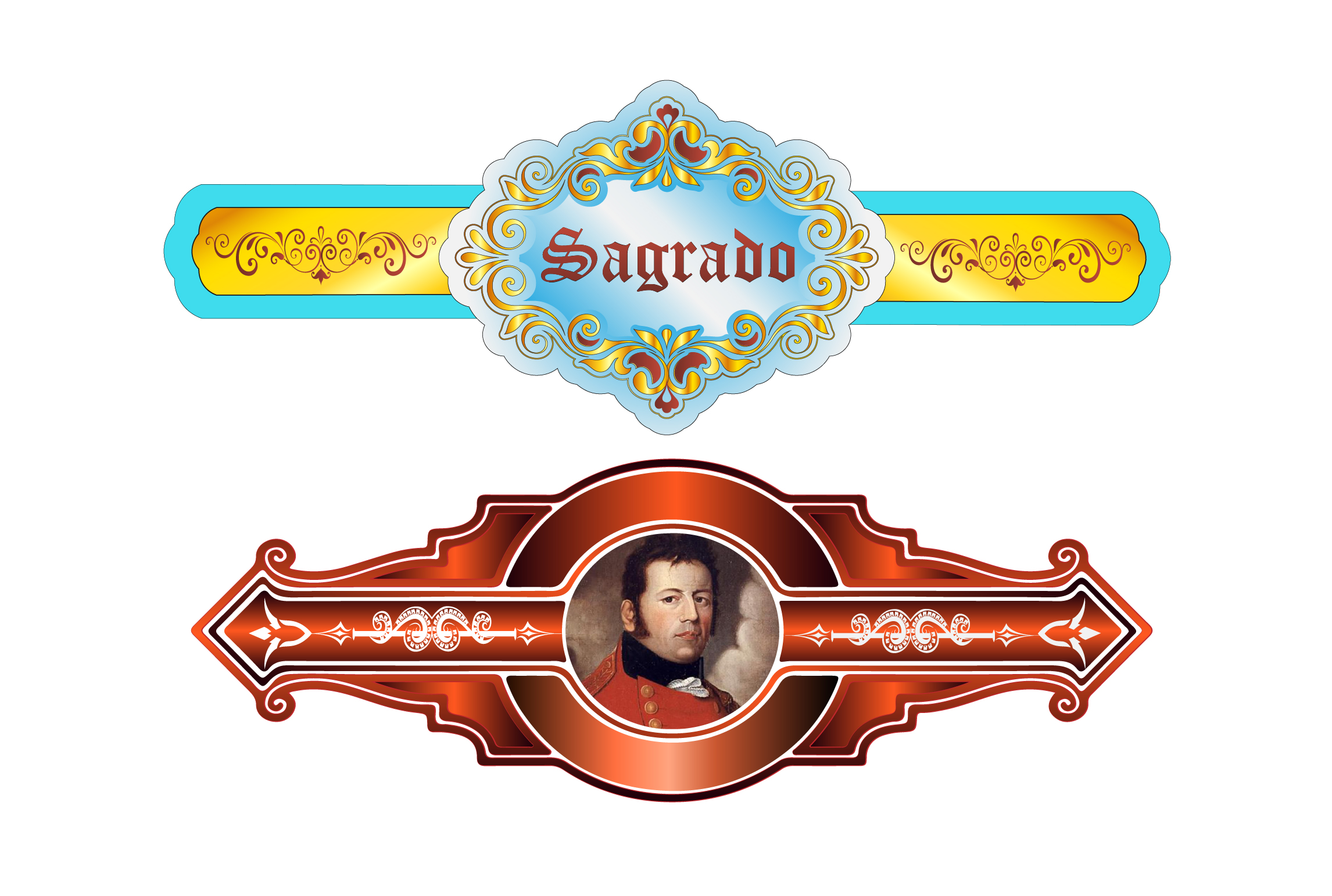 I will design cigar label,  bands and logo