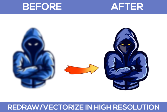 Convert logo into high resolution vector with transparent background