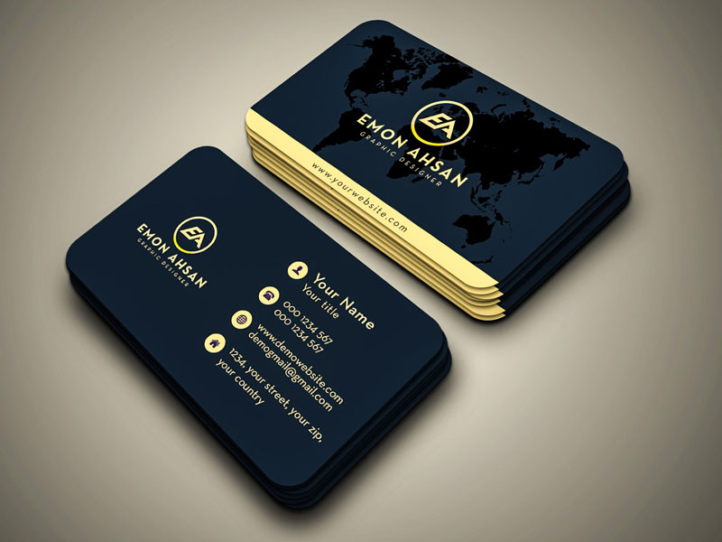 I will do design Luxury business card with two concepts