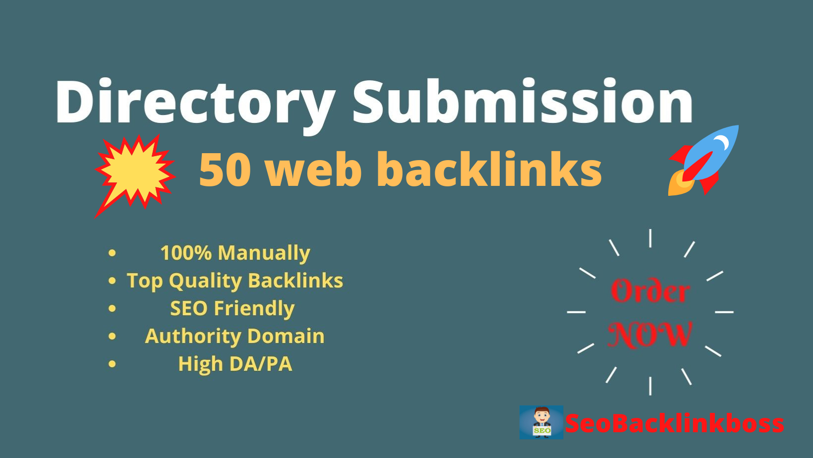 Instant Approval 50 Web Directory Submission Manually