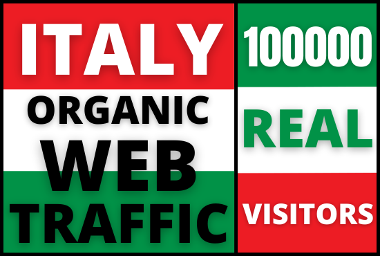 I will drive organic italy web traffic to your website