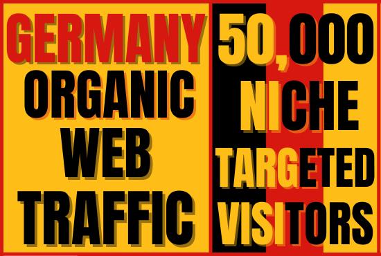 I will bring keyword targeted real Germany web traffic