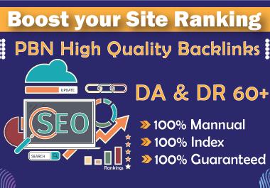 I'll create 50 PBN High Quality Dofollow Backlinks With DA & DR 60+